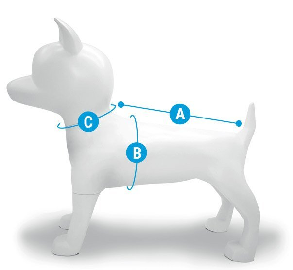 Morso® - Taglie felpe per cani