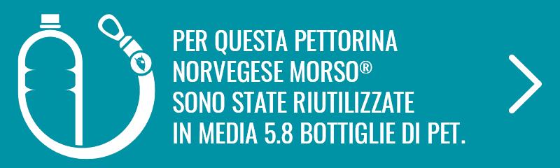 5.8 BOTTIGLIE DI PET PER QUESTA PETTORINA NORVEGESE